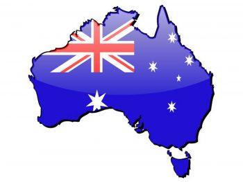 HD Australia Map Flag Photo