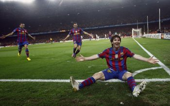 Lionel Messi Celebrate After Goal Photo