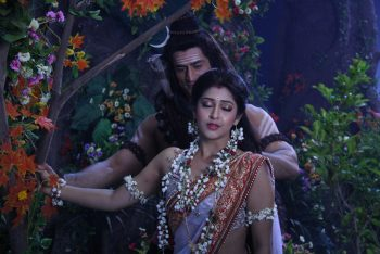 Lord Shiva and Parvati in Devon Ke Dev Mahadev Hindi TV Serial Wallpapers