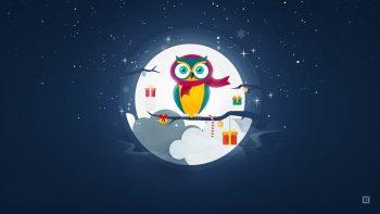 Owl Christmas Winter Season
