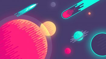 Planets In Space Minimal