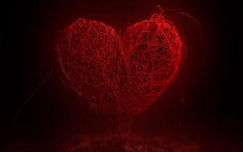 Red Thread Heart Shape Photo
