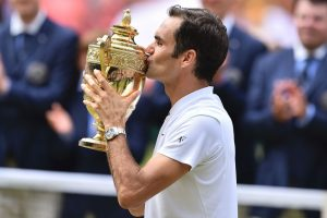 Roger Federer with Wining Cup HD Photo