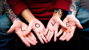Stunning HD Photo of Love Word in Hand