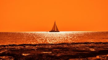 Sunset Boat Sail Best HD Image