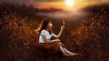Sunset Girl Fantasy
