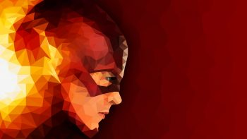 The Flash Low Poly Artwor