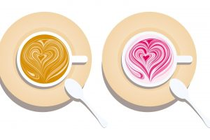Two Beautiful Heart in Cup