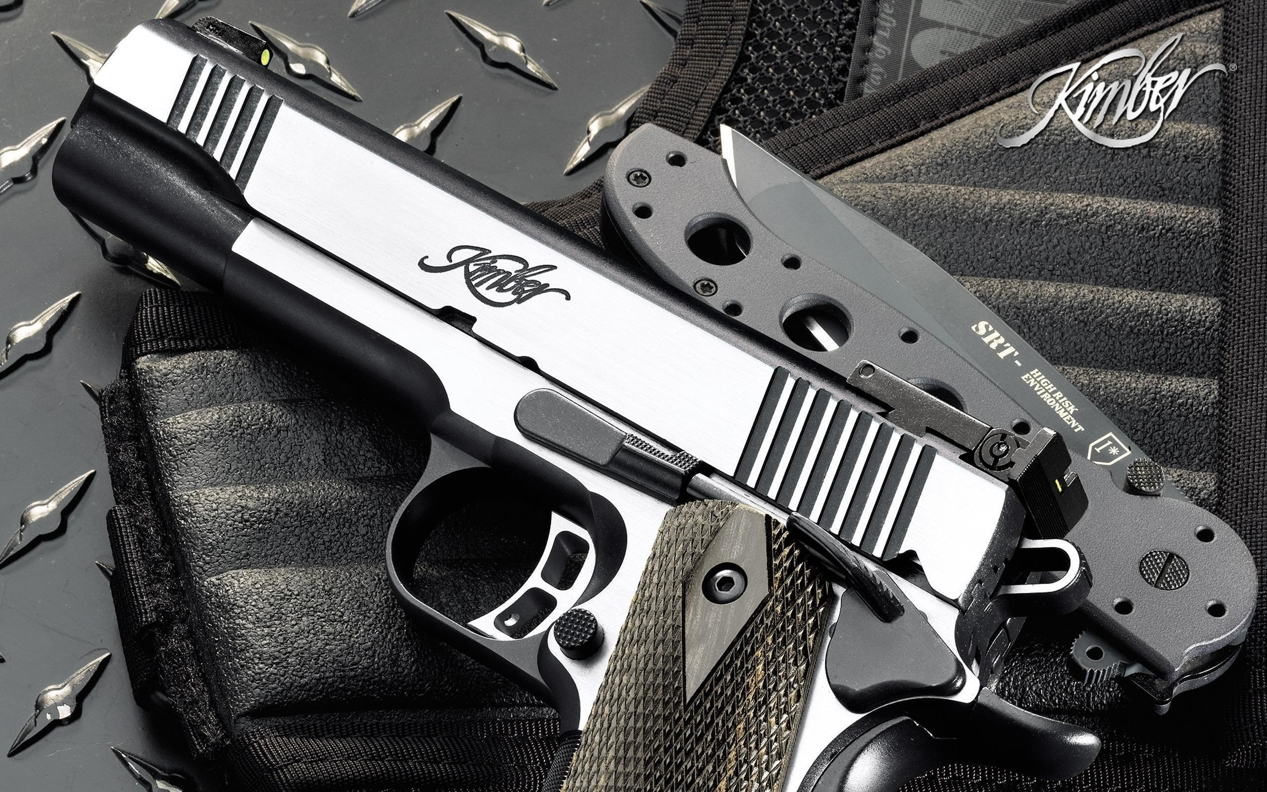 Weapons Pistol And Knife HD Desktop