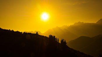 Beautiful Sun Dark Mountains