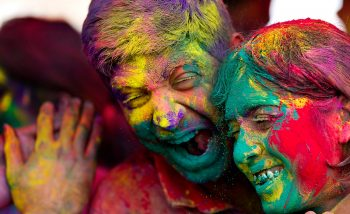 Couple on Holi Colourful Holi Colourful Wallpapers HD For Android