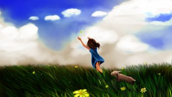 Girl Butterfly Play HD Wallpapers For Android