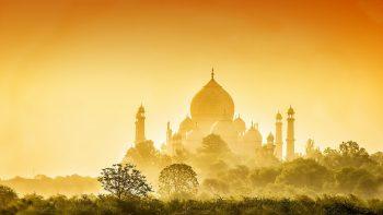 Golden Taj Mahal Full HD Wallpaper Download