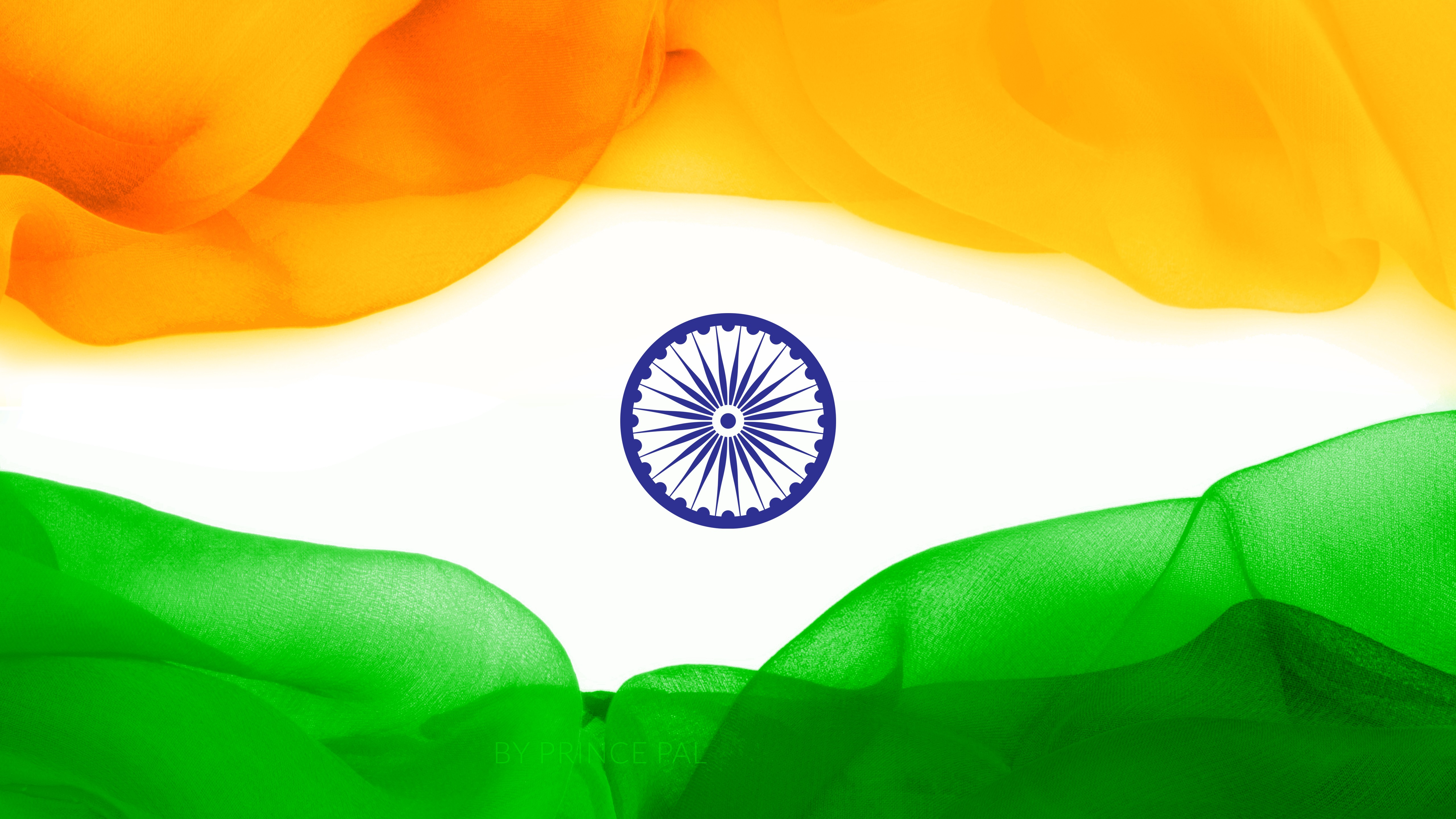 Flower With Indian Flag Hd: Download HD Wallpaper For Free