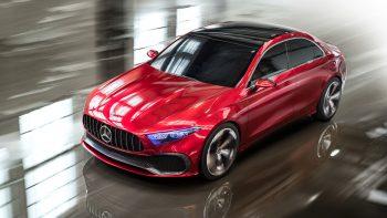 Mercedes Benz Concept A Sedan Wallpaper Download 4K