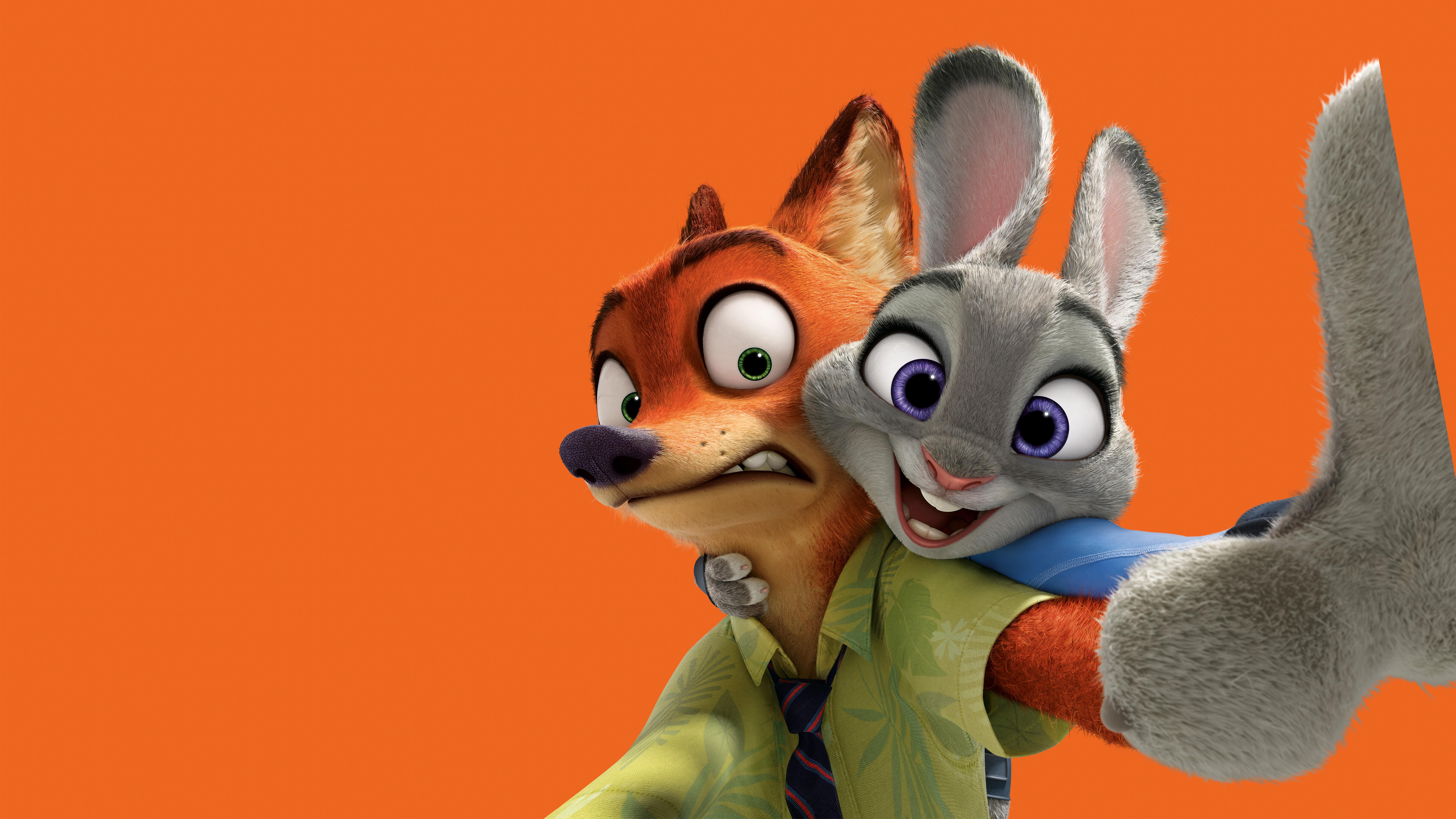 Ausmalbild Nick Und Judy Hopps Aus Zootopia: Download HD Wallpaper For Free
