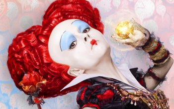 Red Queen Alice Through The Looking Glass Background HD Wallpapers