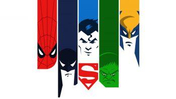 Spiderman Batman Superman Hulk Minimal Download HD Wallpaper