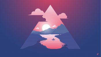Sunset Scenery Minimal Download HD Wallpaper