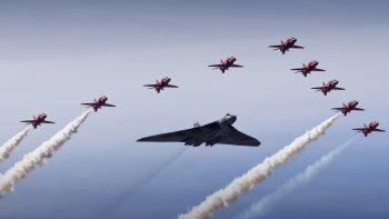Vulcan Bomber Red Arrows