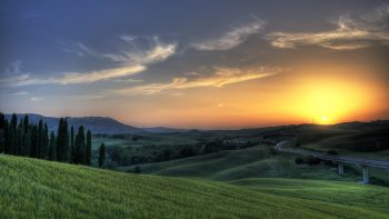 Sunset In Tuscany Full HD Wallpaper Download