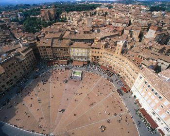 Aerial View Of Piazza Del Campo Italy