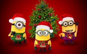 Santa Minions Mobile Wallpaper