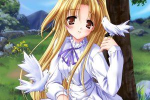 Anime Girls Download HD Wallpaper For Desktop White Full HD