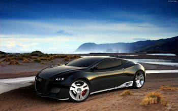 Audi Ultimate Black Concept Download Full HD Wallpaper
