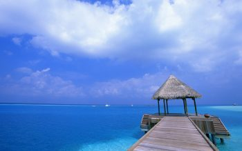 Blue Sky Beach HD Nice Wallpaper