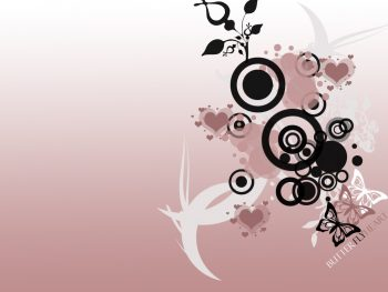 Butterfly Heart Vector Full HD Wallpaper