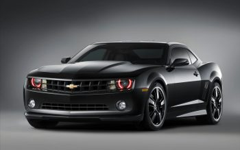 Chevrolet Camaro Black Concept 3 Download Full HD Wallpaper