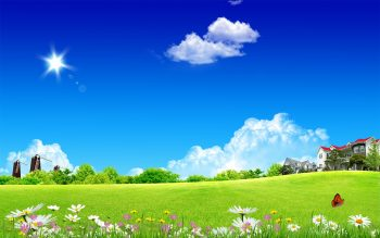 Clean Home Sky Download Full HD Wallpaper