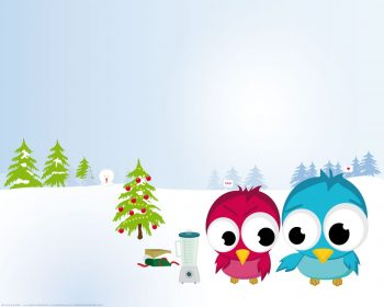 Funny Christmas Birds HD Wallpaper For Free