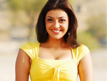 Kajal Yellow Top Full HD Wallpaper