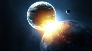 Planets Collide Super Hot Wallpaper