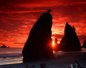Sea Stacks Knife A Blood Red Sky HD Wallpaper For Free