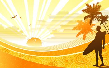Sunshine Widescreen Vector Download Full HD Wallpaper