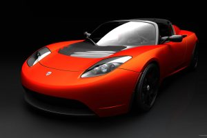 Tesla Roadster Sports Car Full HD Wallpaper Download