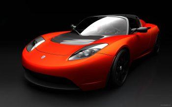 Tesla Roadster Sports Car HD Nice Wallpaper
