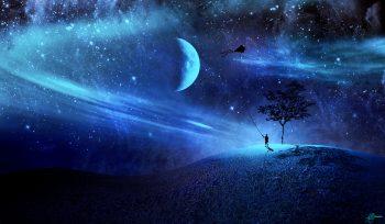 3D Art Fantasy Science Fiction Stars Mood Sky