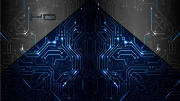 Abstract Artistic Electronics Circuit Board