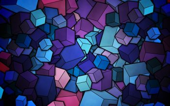 Abstract Multicolor Cubes Neat Image For Free