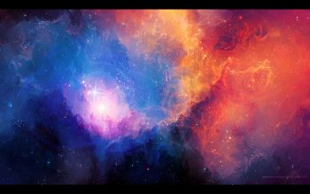 Abstract Outer Space Stars Nebulae Artwork Tyler Young High Resolution iPhone Photograph