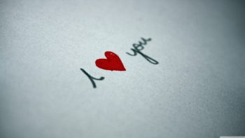 Abstract Paper Texts Hearts I Love You