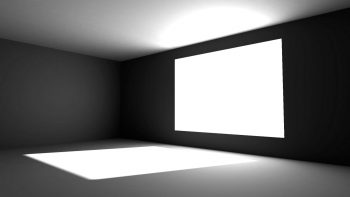 Abstract White Grayscale Monochrome Window Panes Illuminated Screens Windows Interior Design