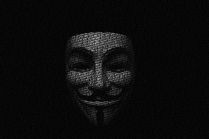 Anonymous Guy Fawkes Typographic Portrait