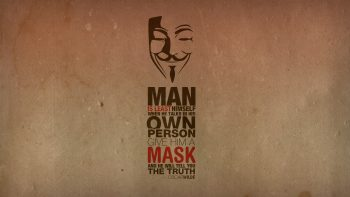 Anonymous Minimalistic Text Quotes Typography Masks Oscar Wilde Guy Fawkes V For Vendetta Truth
