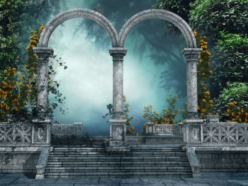 Arch Forest Gate Door 3D Art Artwork Flowers Full Neat Photograph Get