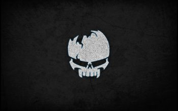 Background Dark Wall Skull Sign